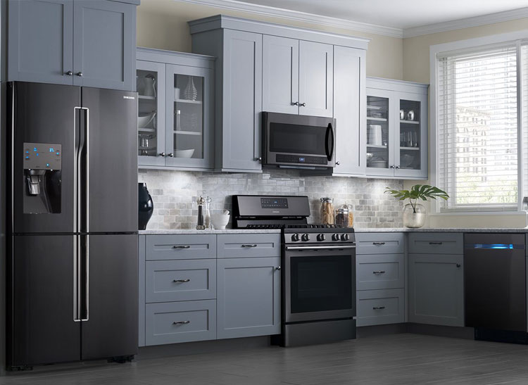 5. Black Stainless Steel Appliances