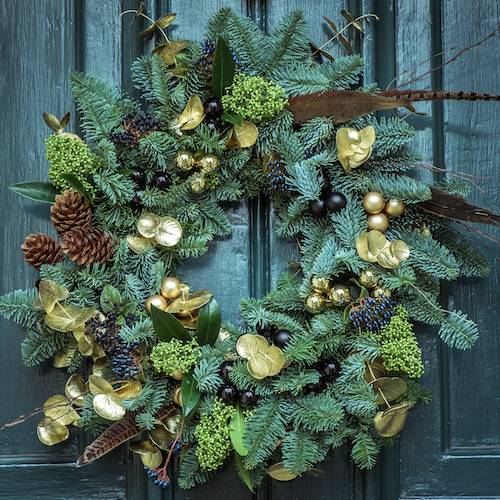 Build you own wreath as custom made holiday gift ideas
