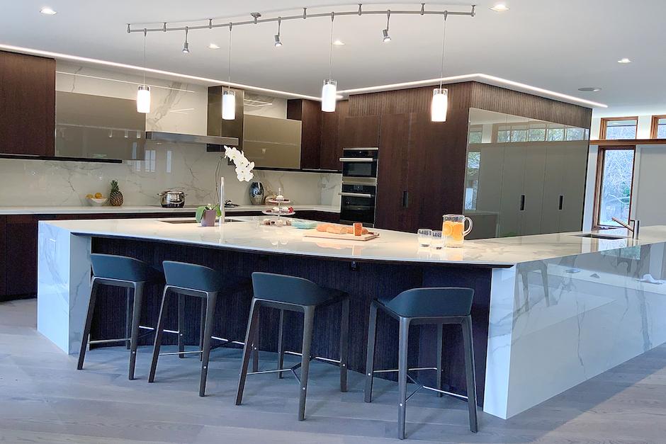 modern kitchen floor plan