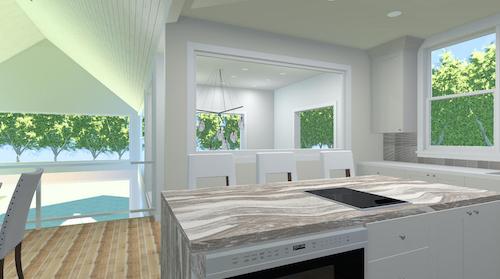 3-D Kitchen Floor Plan